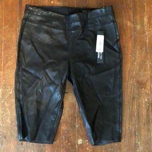 BLANKNYC , PU black Raw hem shorts.